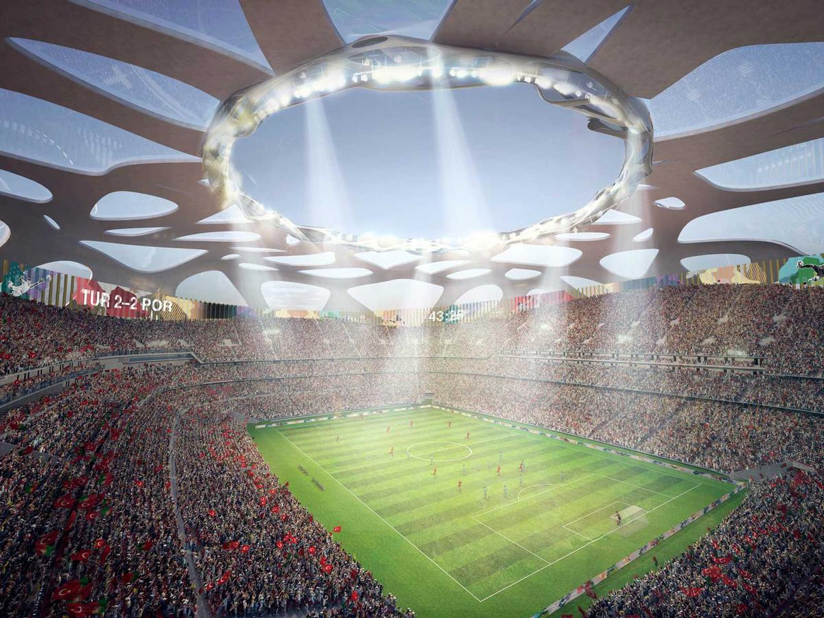 One of the stadium's that would be renovated should Turkey overcome Germany in its bid for Euro 2024, is the Ataturk Stadium in Istanbul / AFL Architects