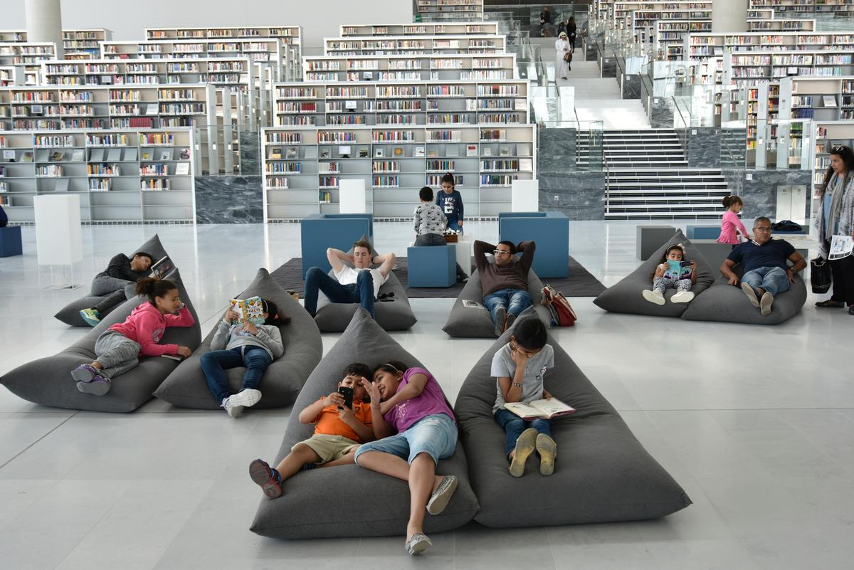 QNL is the third library built by OMA, following the Seattle Central Library in the US and the Bibliothèque Alexis de Tocqueville in Caen, France / Hans Werlemann, courtesy of OMA