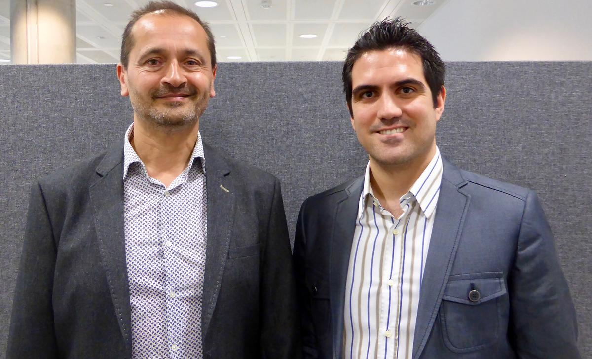 Ray Algar, MD of Oxygen Consulting (left) with Utku Toprakseven, director of DataHub / Oxygen Consulting