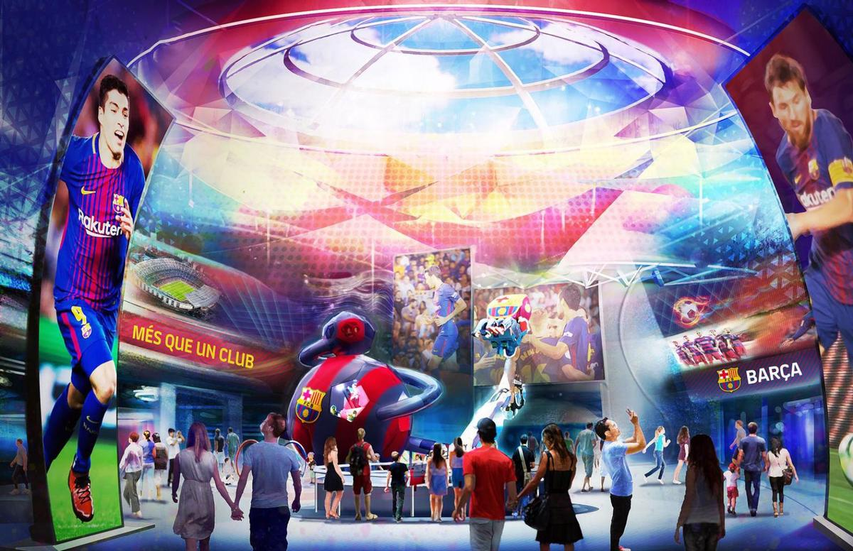 Visitors able to enjoy immersive experiences 'based on the history, values, players and memorable moments of the club, blending interaction, new technologies, education and fun' / FC Barcelona