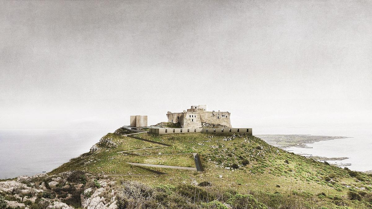 Italian studio Simposio have secured first prize for their proposal to carefully integrate new cultural and hospitality buildings into the rocky landscape of Favignana / YAC