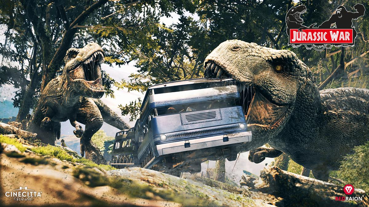Jurassic War takes guests on a thrilling dinosaur adventure