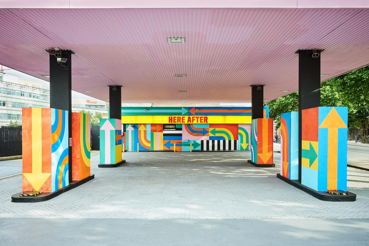 In June last year, designers Craig and Karl turned the petrol station into an immersive art piece, using vibrant colours and geometric design to create the unique work