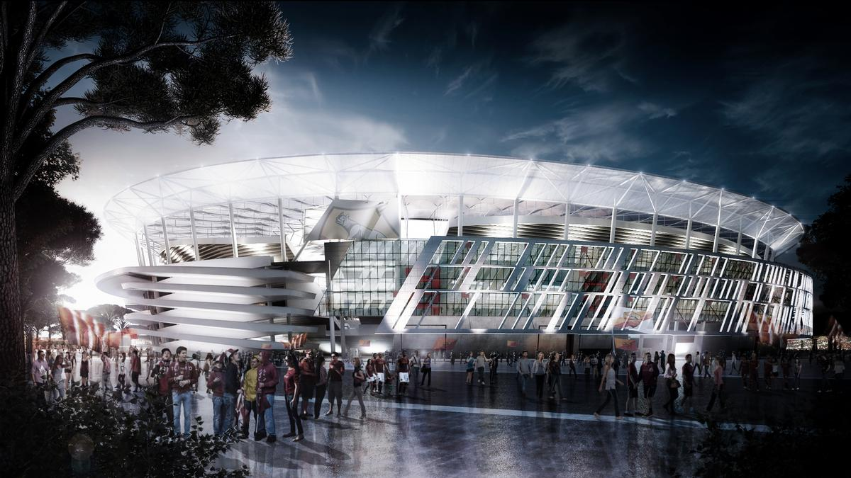 The design of the 52,500-capacity Stadio Della Roma, which will be situated in the Tor di Valle neighbourhood, is heavily inspired by Rome's much-loved Colosseum / Meis Architects