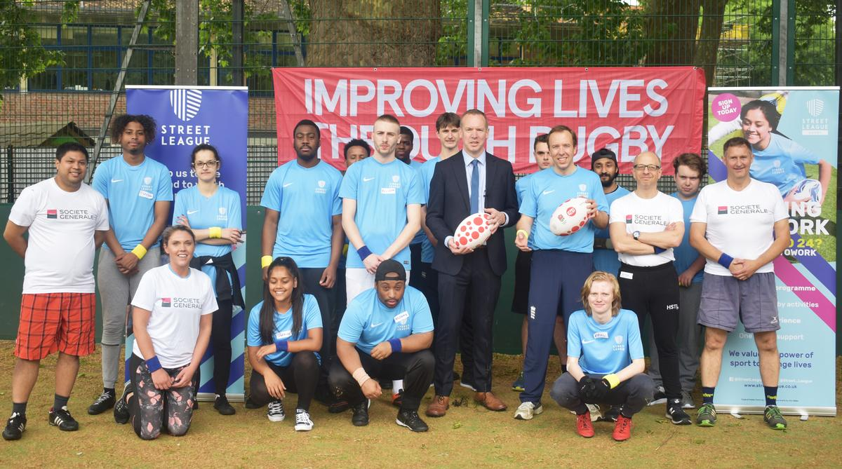 Street League Rugby was officially launched by culture secretary Matt Hancock / Street League