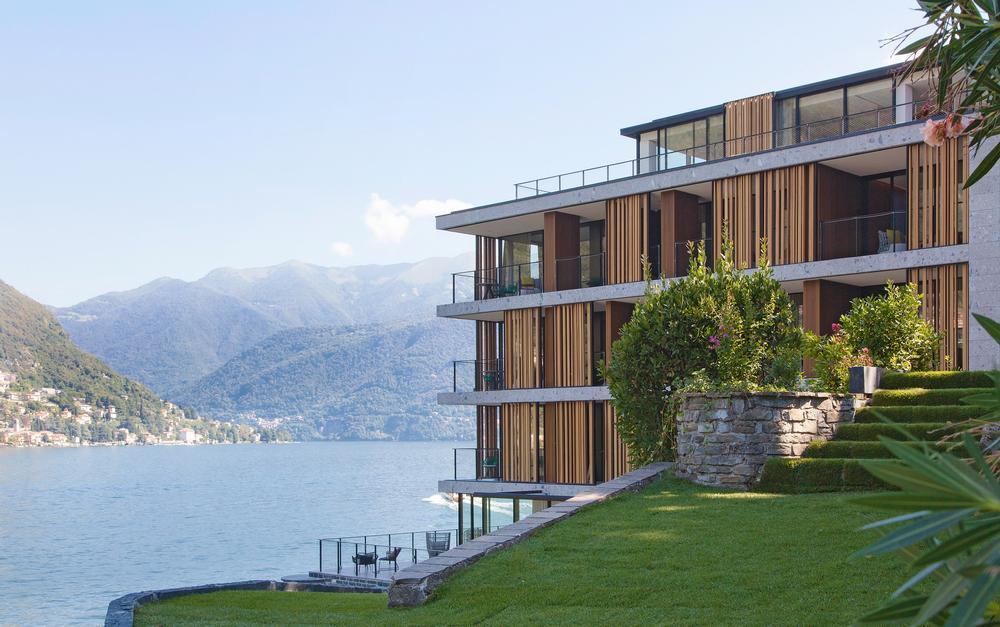 The hotel features outdoor spaces and vertical gardens by Patrick Blanc. Il Sereno has views across Lake Como / Patricia Parinejad