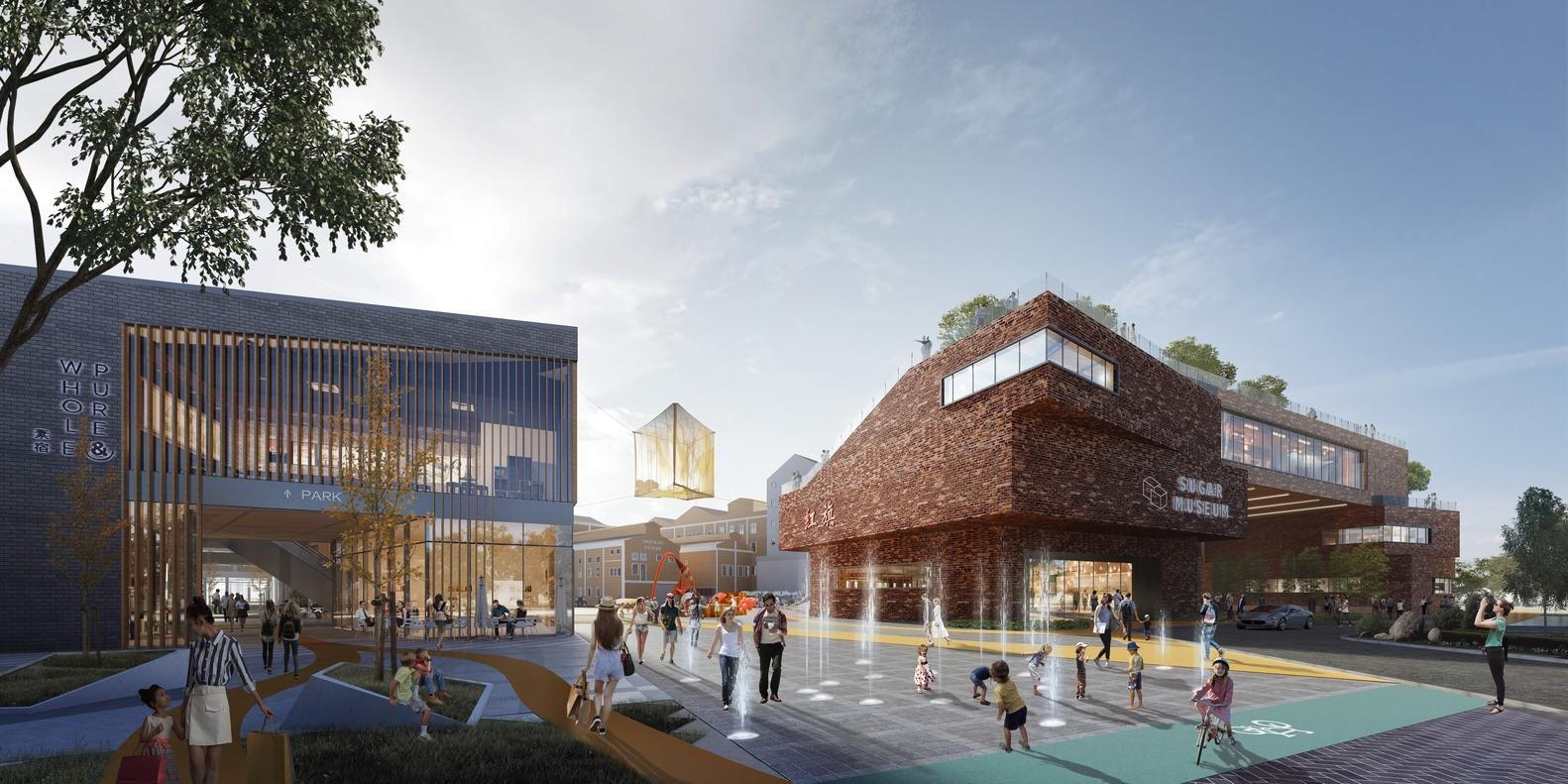 Existing industrial buildings will be repurposed, and smaller new structures inserted between them / Woods Bagot