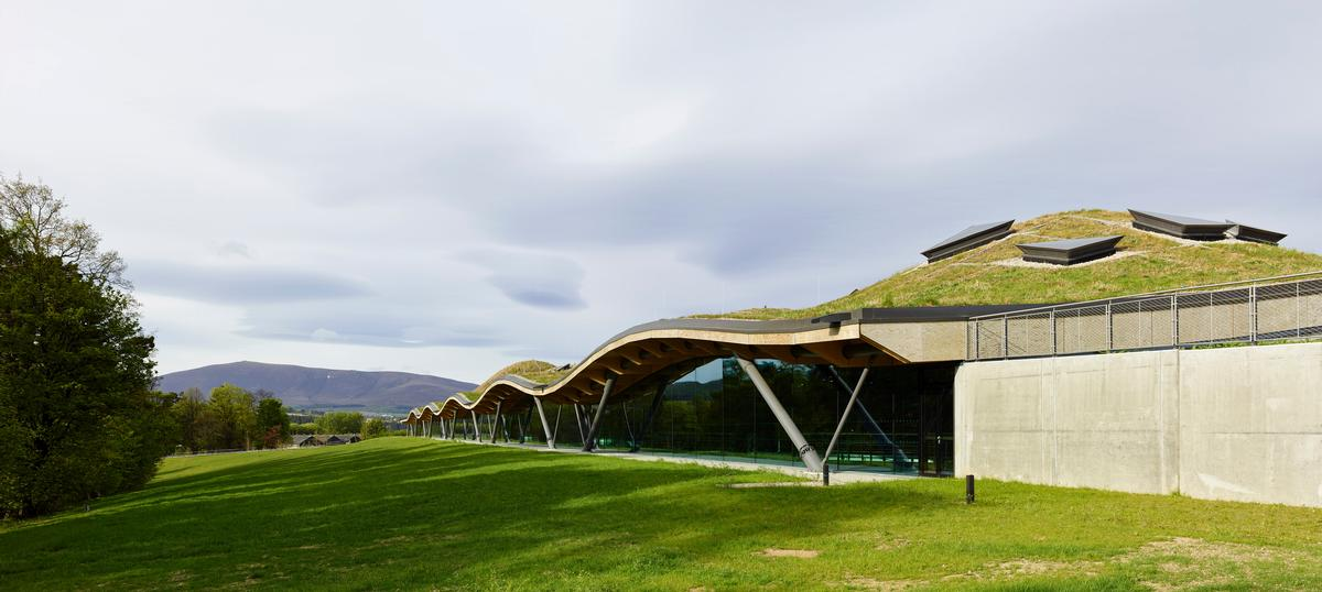 The £140m (US$187m, €160m) project, which took three and a half years to build and opened on 2 June, features an undulating, meadow-covered roof