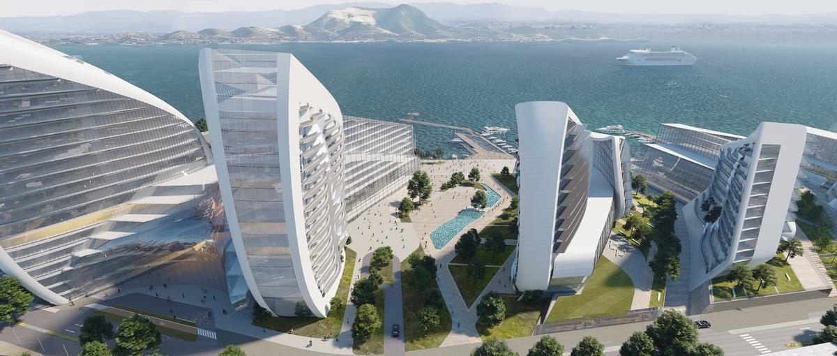 Each structure, designed using parametric technology, is a separate evolution of a single form / VA