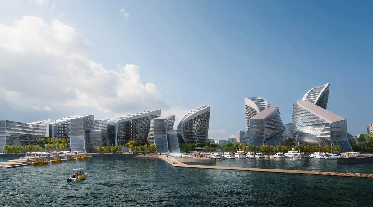 Zaha Hadid Architects (ZHA) will transform Novorossiysk, Russia's largest shipping port, adding dramatic buildings, public spaces and amenities / VA