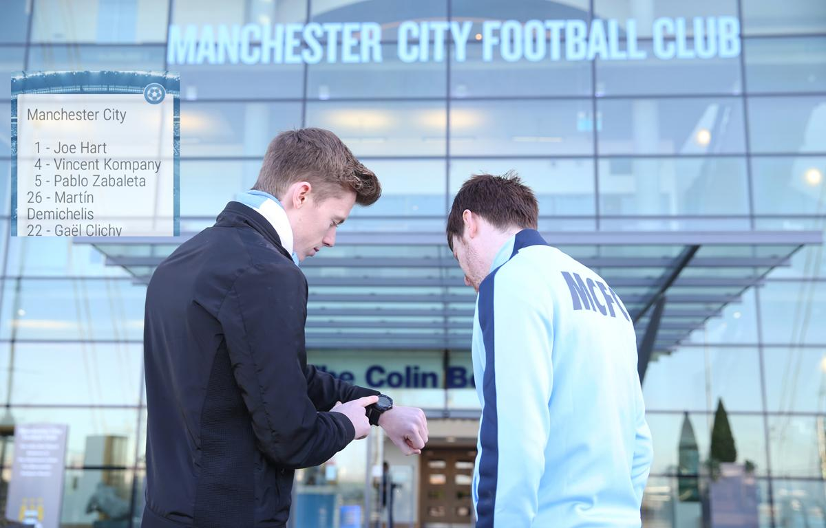 The CityMatchday Wear app has been designed for the Android Watch