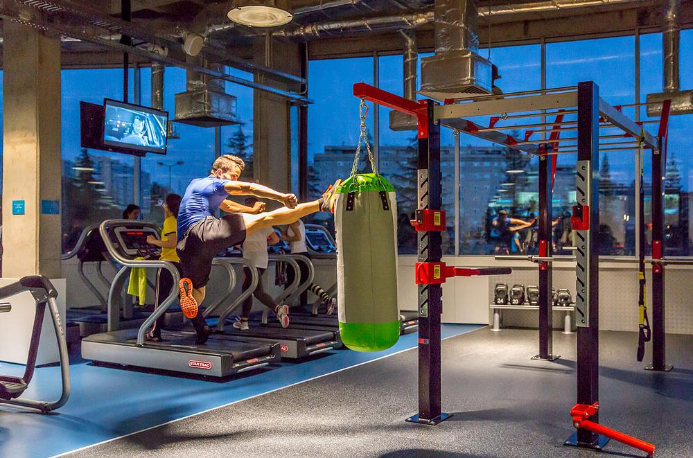 Fitness Hut clubs have large functional training areas