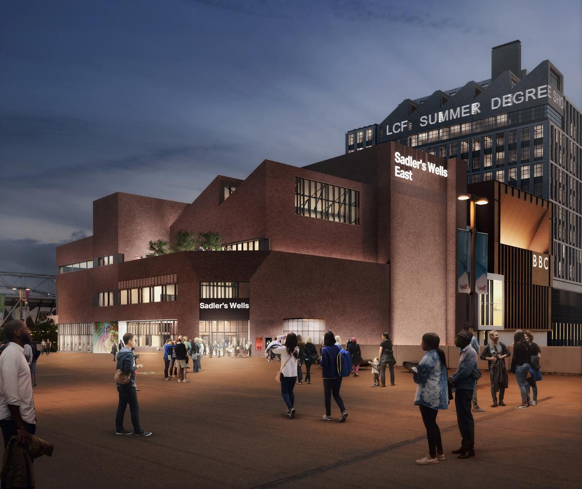 The Sadler's Wells dance theatre will also have a home on the East Bank