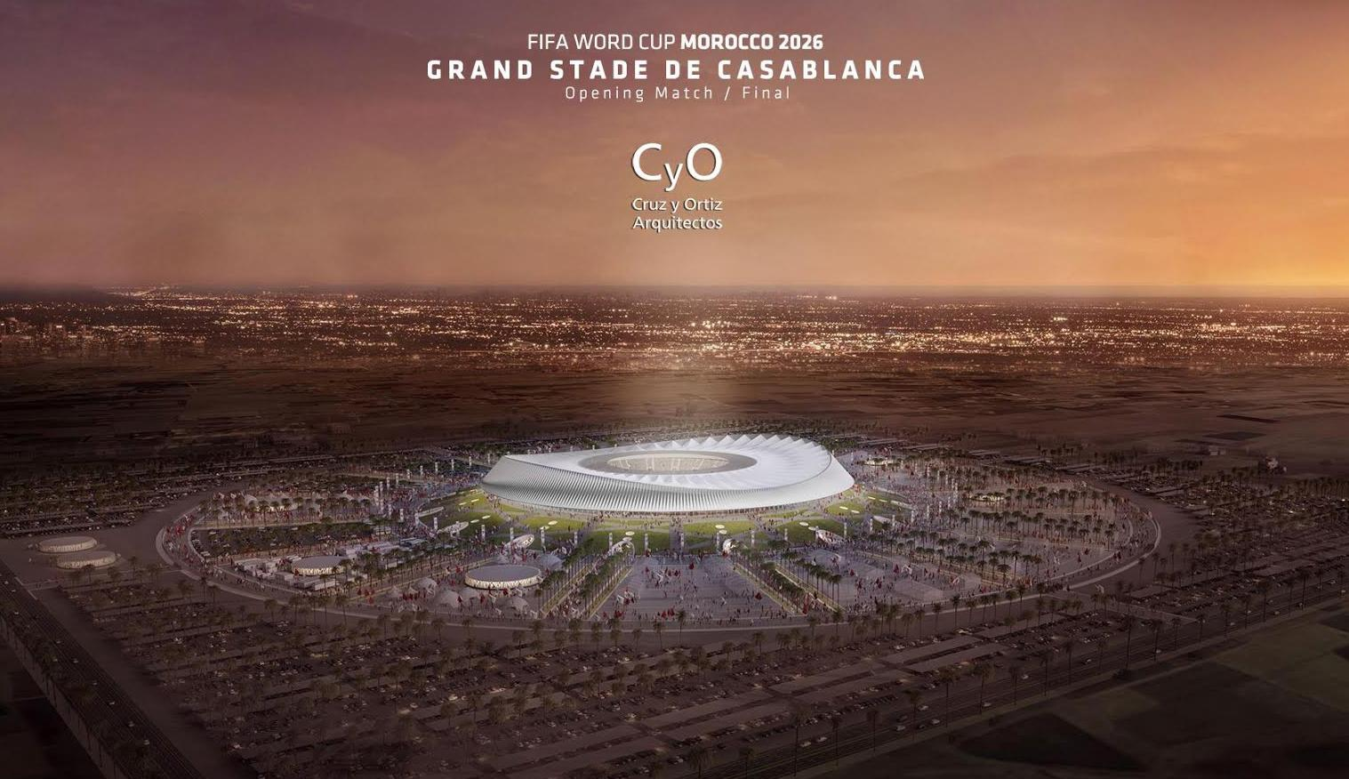 If the former wins the vote, Cruz y Ortiz's stadium will be constructed in Casablanca, and will host the opening match and the final of the World Cup / Cruz y Ortiz