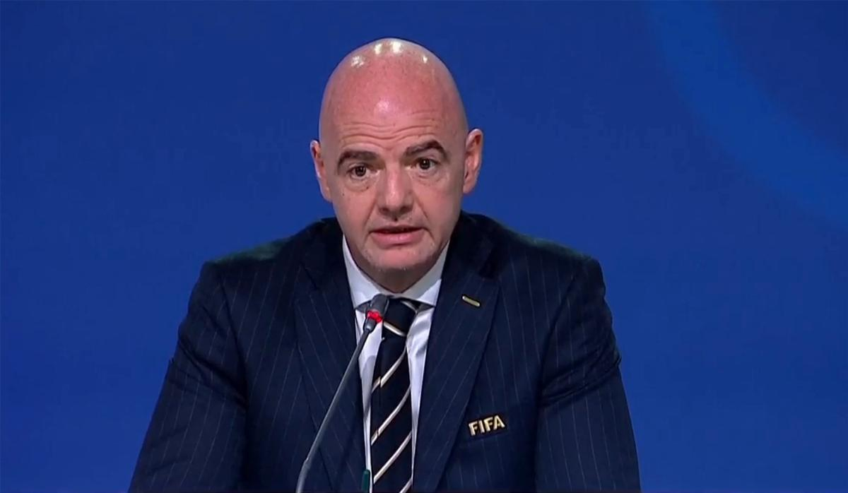 FIFA president Gianni Infantino announced the winner at the football federation's annual congress today