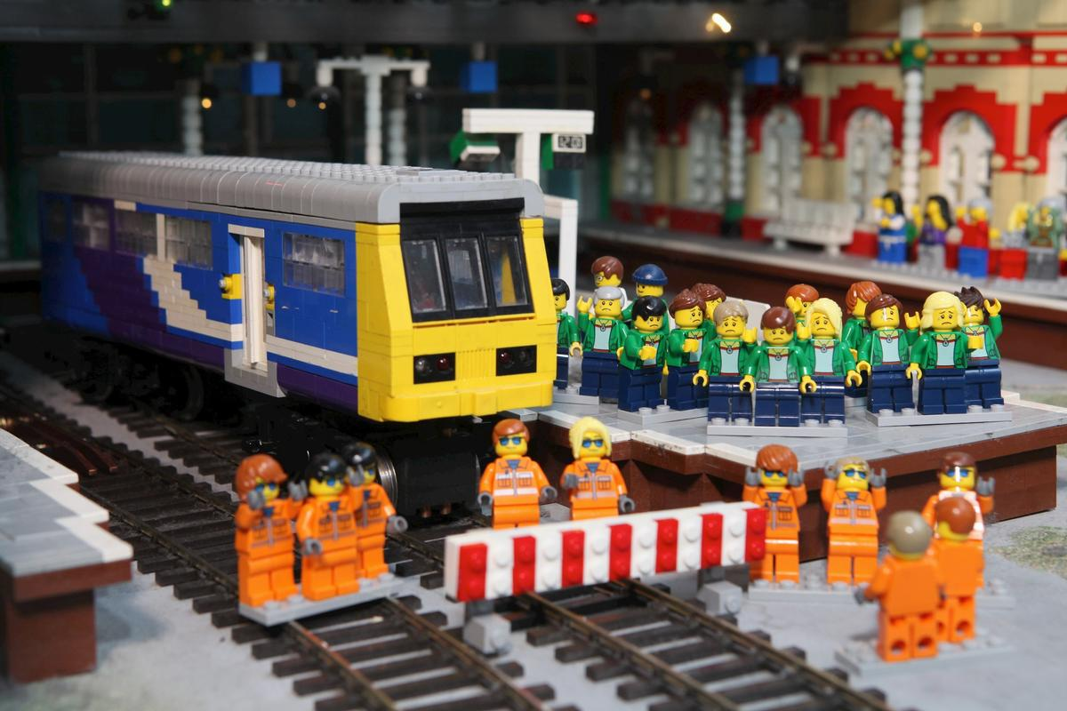 Legoland Discovery Centre bosses have stripped out the Northern Rail train at the centre of 'Mini Land' and removed the railway podium from the miniature Lego-built city of Manchester