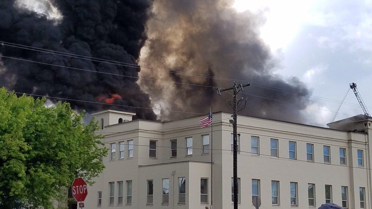 The fire destroyed most of the armory / Twitter.com