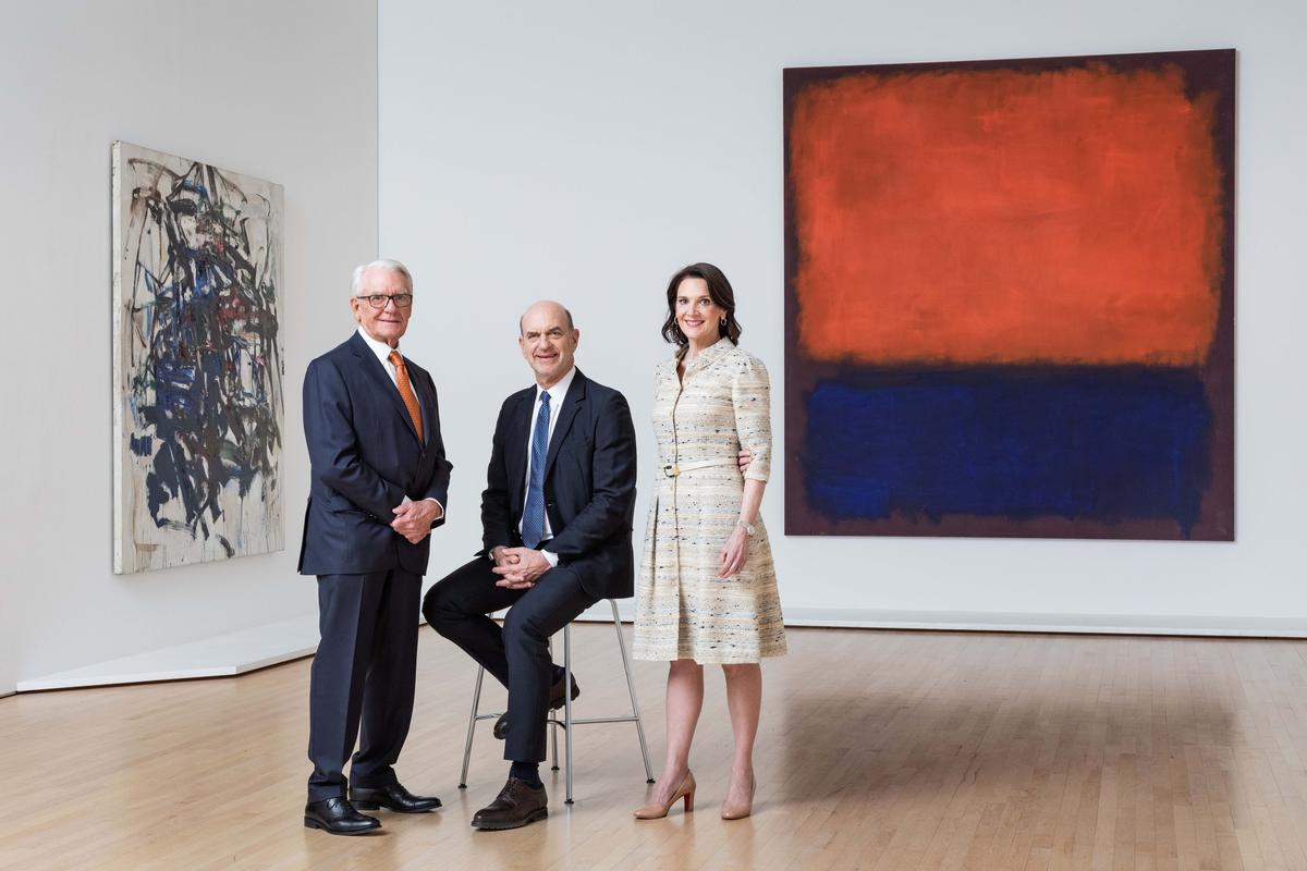 Left to right: Charles Schwab, Robert Fisher, Diana Nelson / SFMOMA