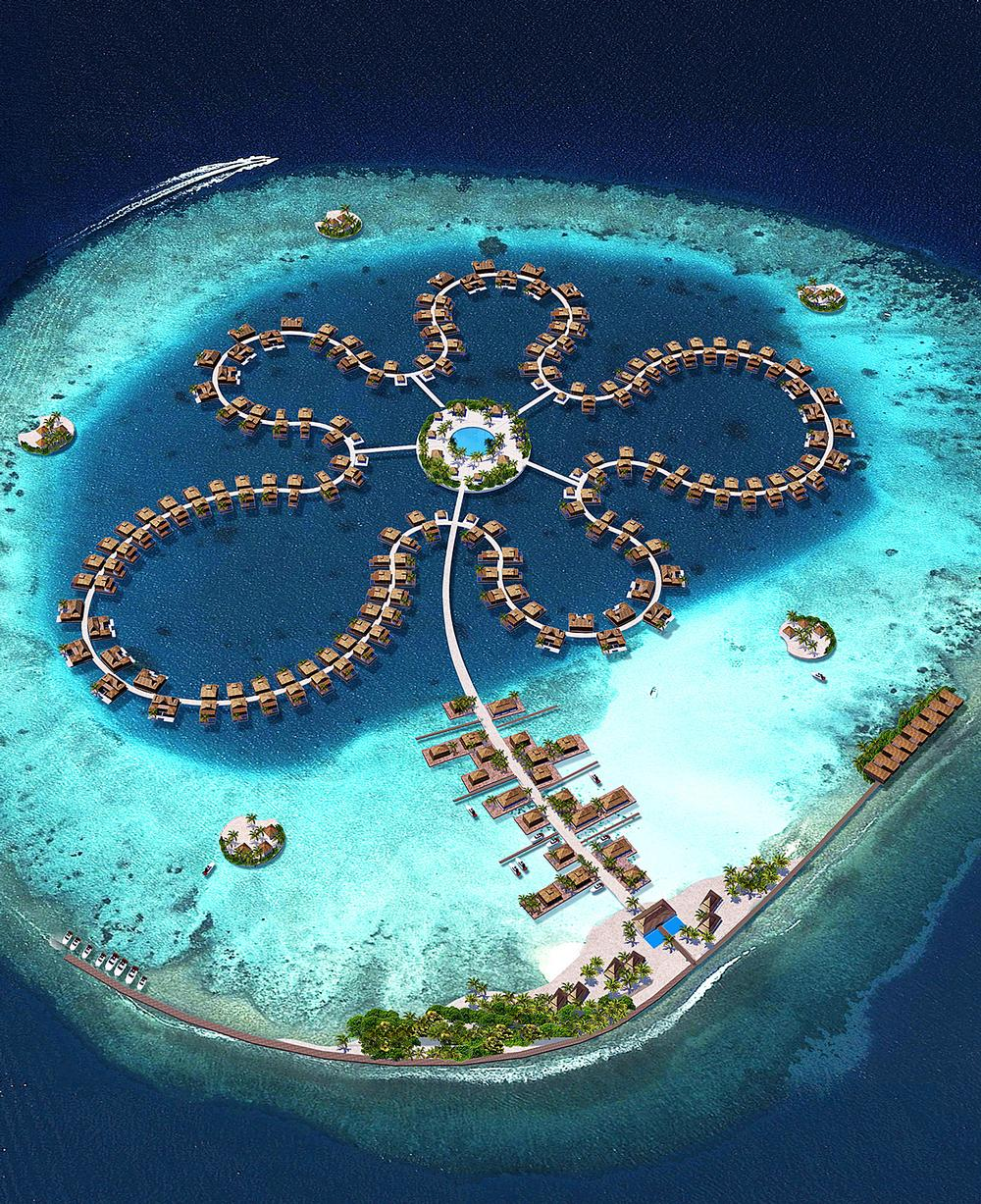Ocean Flower is part of the Five Lagoons development in the Maldives