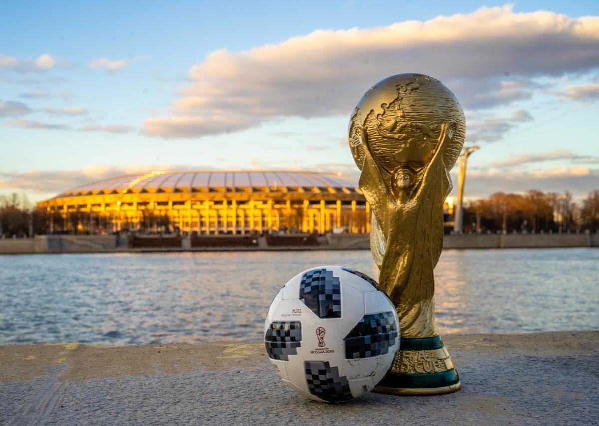 The opening game between hosts Russia and Saudi Arabia will be played at the Luzhniki (in the background) today, 14 June