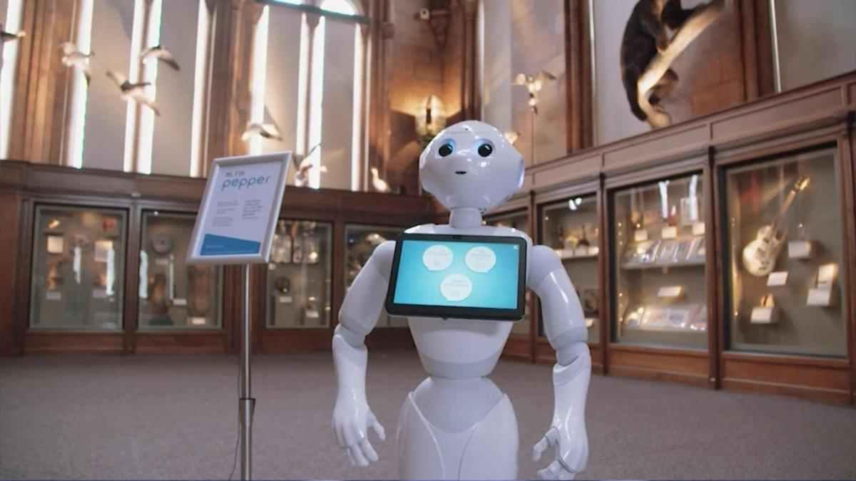 Pepper the robot is a recent addition to the Smithsonian Museum