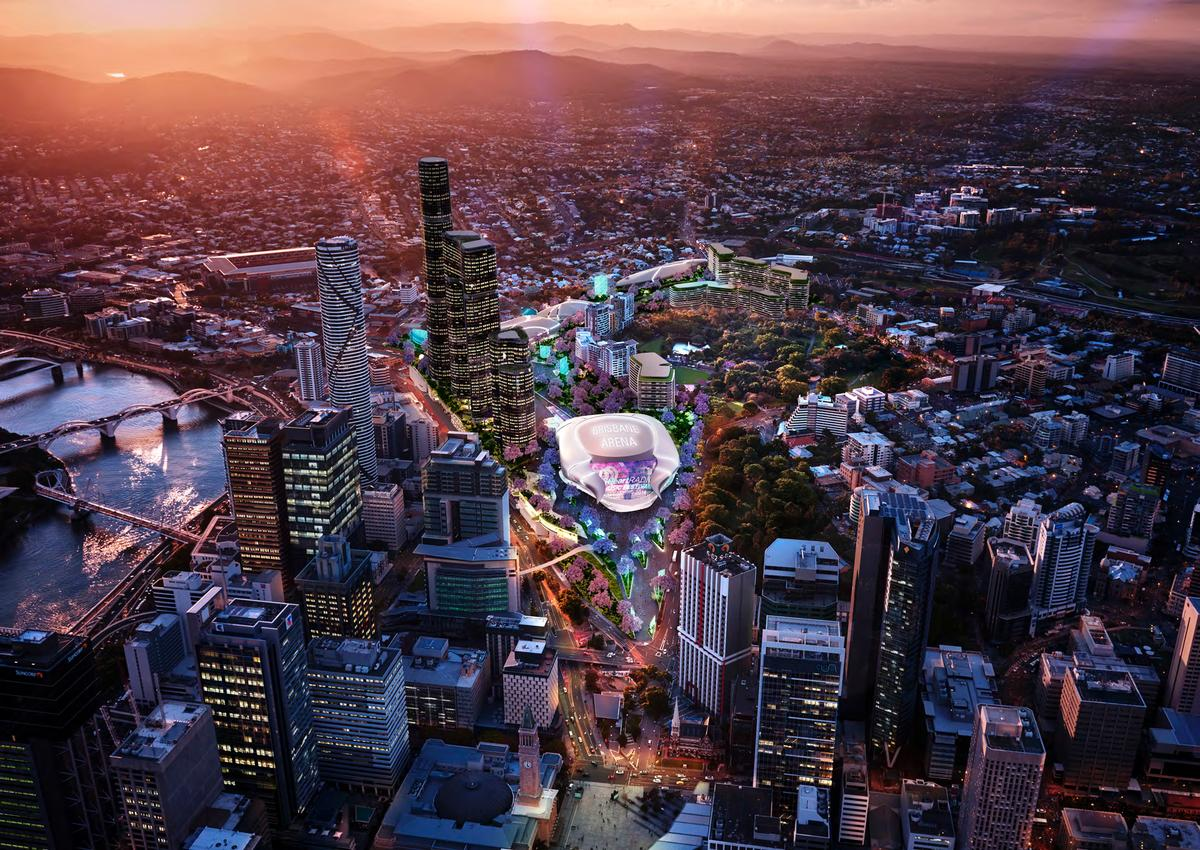 With an 18,000 seat world-class arena as its centrepiece, the Roma Street precinct will become Queensland's premier entertainment venue / AEG Ogden/Brisbane Live