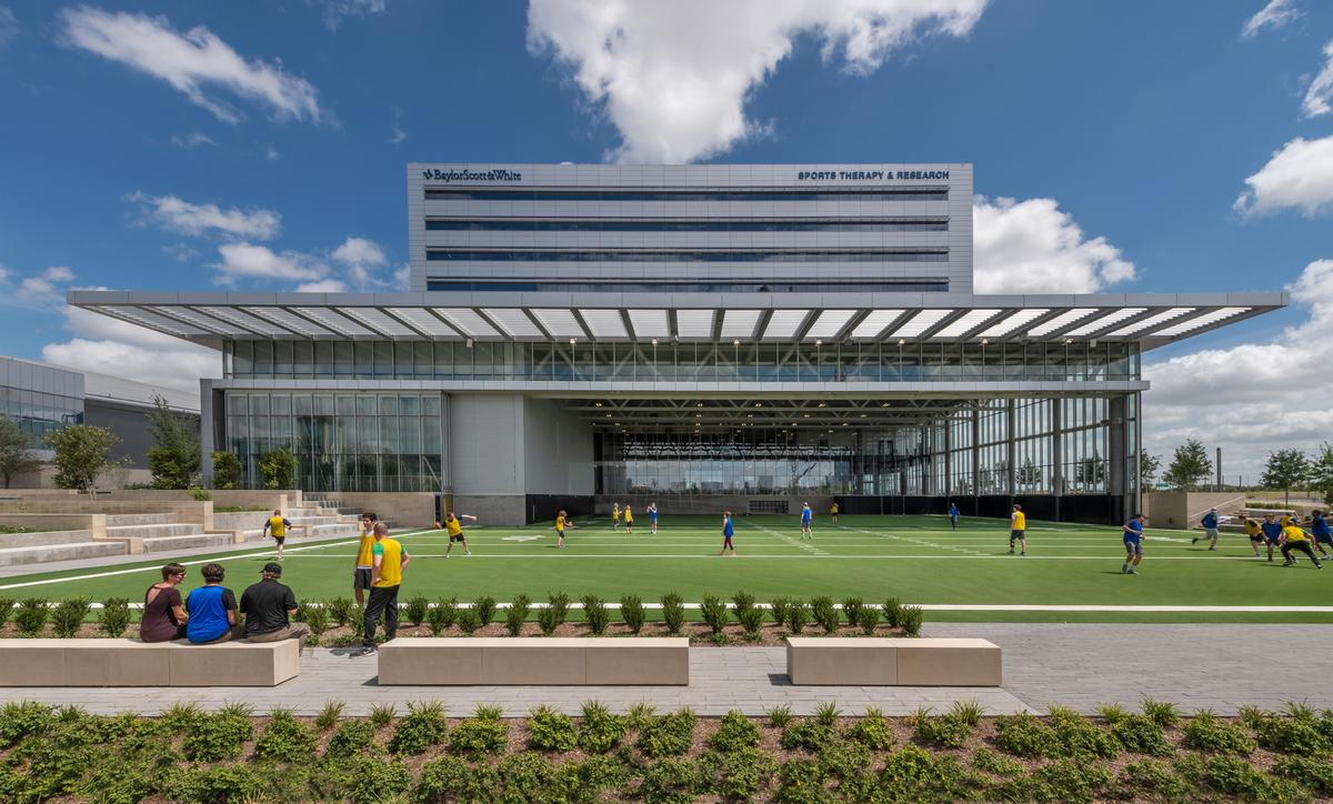 The building has been designed to put 'human health and sports performance on public display' – from injury prevention to training to healing and recovery