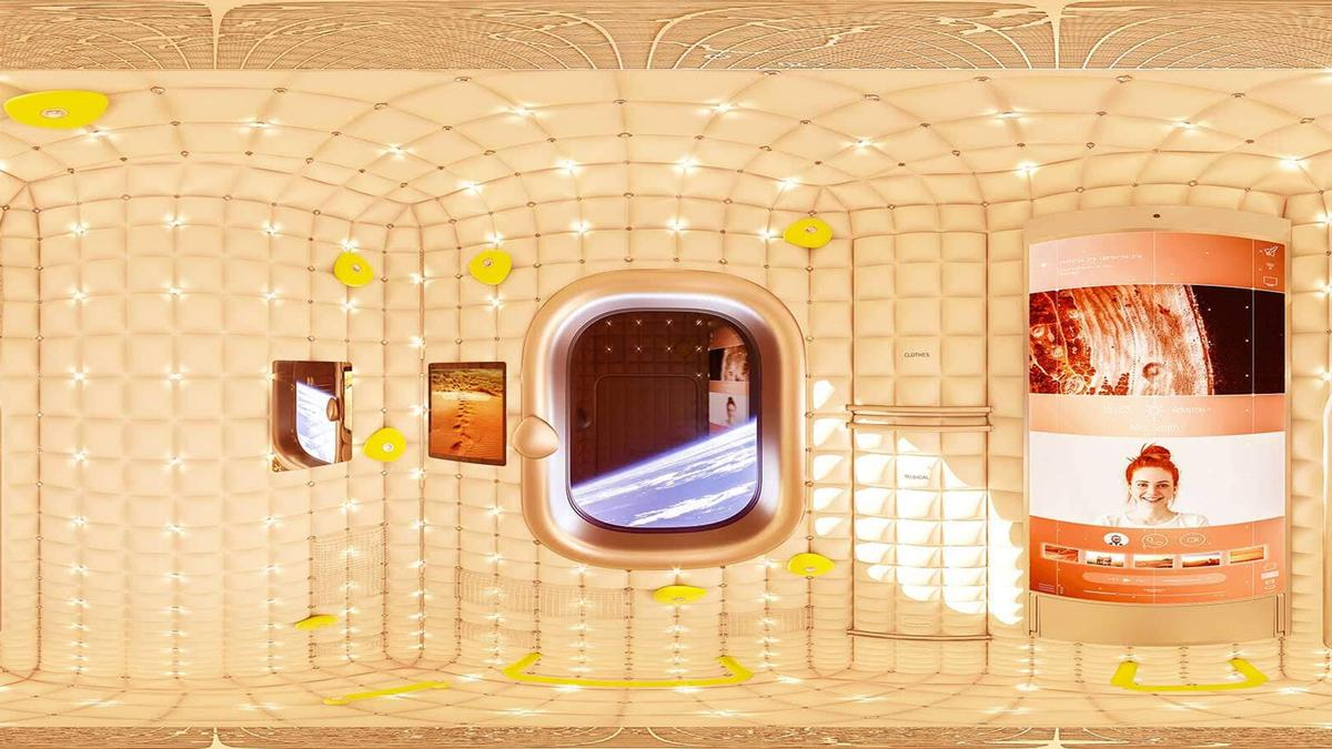 Philippe Starck has designed the interiors of the Axiom Space Station module