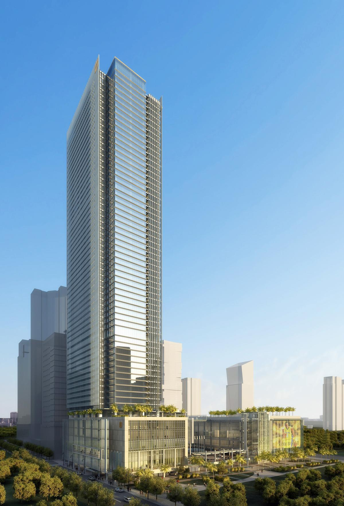 At 250m tall, the Shangri-La at the Fort, Manila will be one of the tallest buildings in the country / Shangri-La
