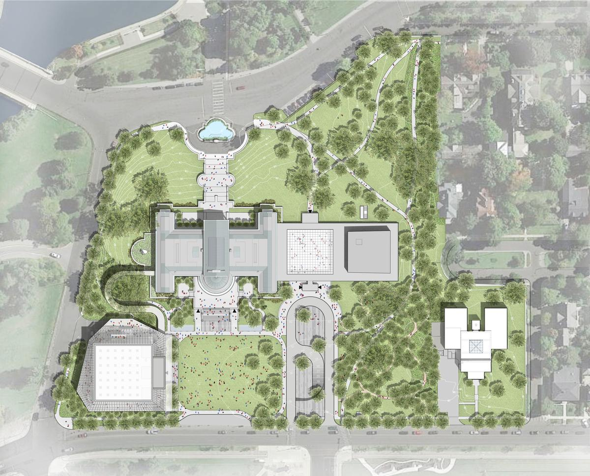 The museum's directors want to make the campus 'a more welcoming, accessible, and inclusive place, physically and philosophically' / OMA