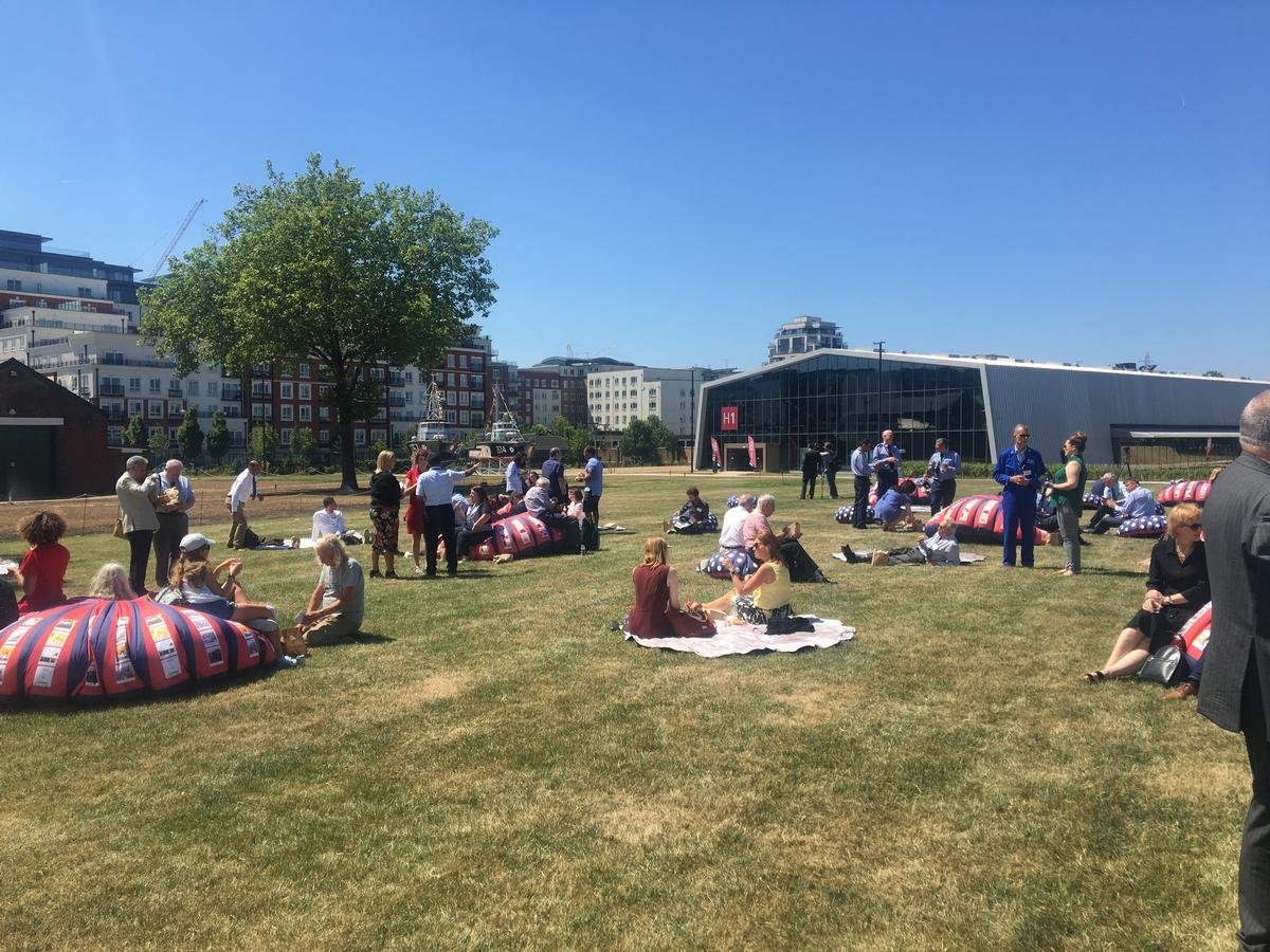 The museum's outdoor space has been dramatically changed, with the former carpark now a large green space sitting at the heart of the museum site