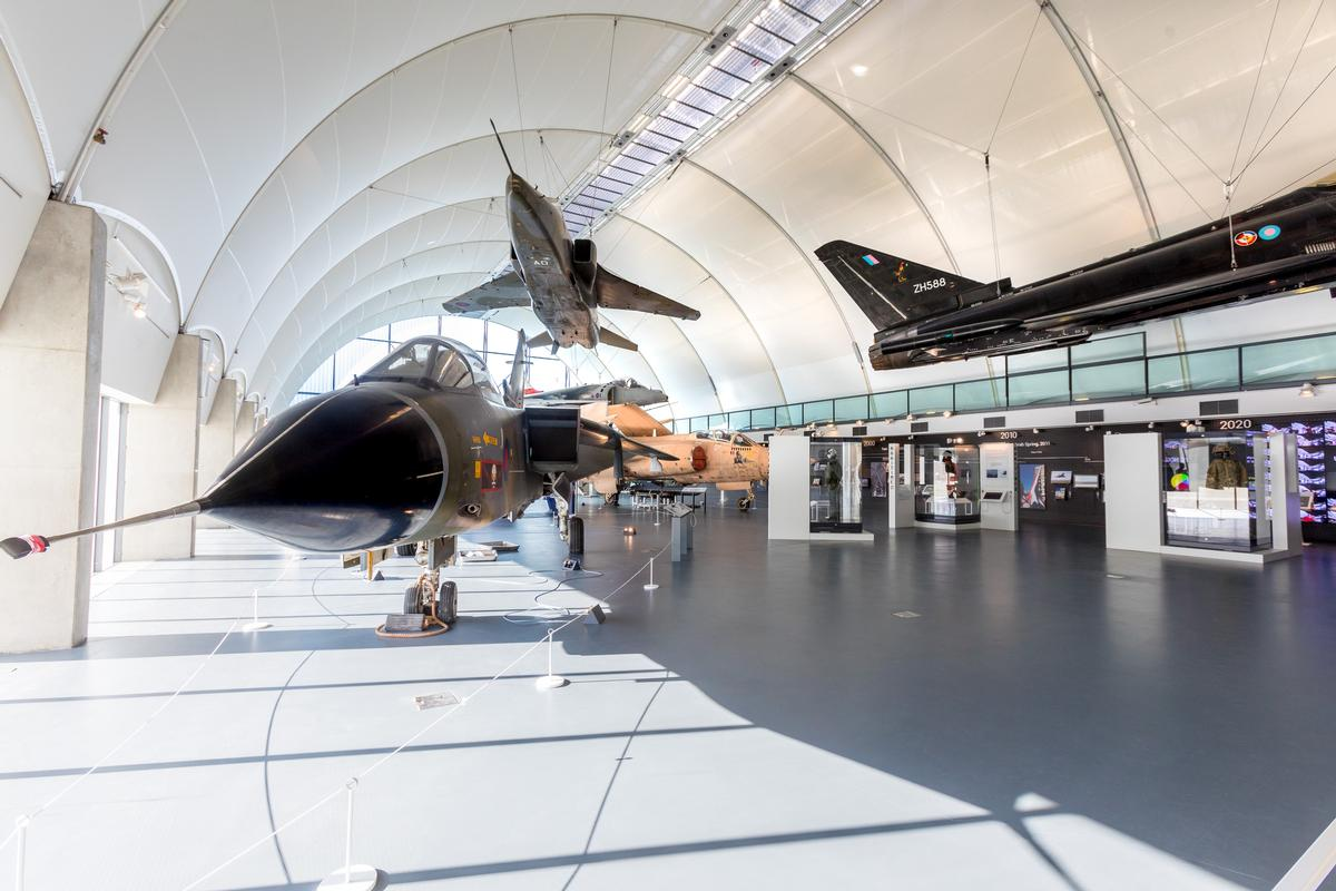 The museum's Hangar 6 building has also been renovated, with a new learning space and exhibition space looking at the modern day RAF from 1980 onwards