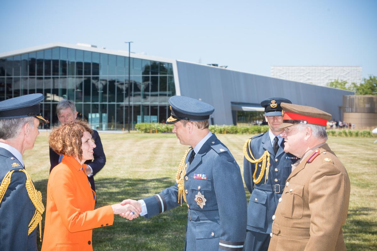 His Royal Highness The Earl of Wessex today attended the opening ceremony of the transformed RAF Museum London as part of the centenary celebrations of the Royal Air Force / RAF Museum