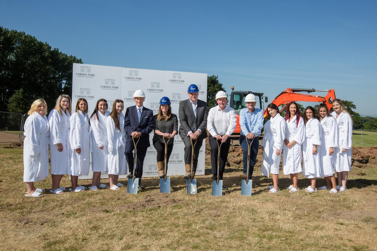 The Carden Park team celebrates the groundbreaking of the new spa