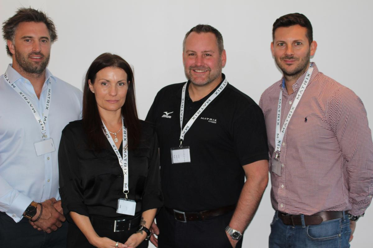 Matrix's new recruits (from left to right) –Alex Nardell, Karen Seers, Chris Brown and Paul Jones.