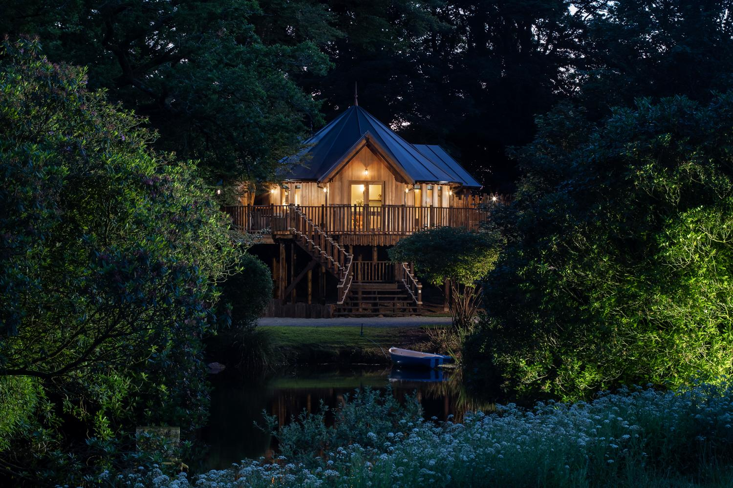 The Treehouses are part of Luxury Lodge's collaboration with David Lloyd