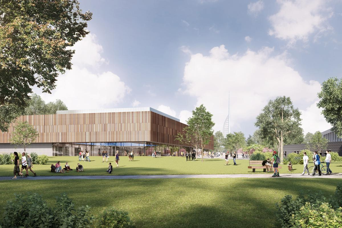 The building will 'set new standards' for sustainability for a sports building and is on target to be the first of this type in the UK to be BREEAM rated outstanding