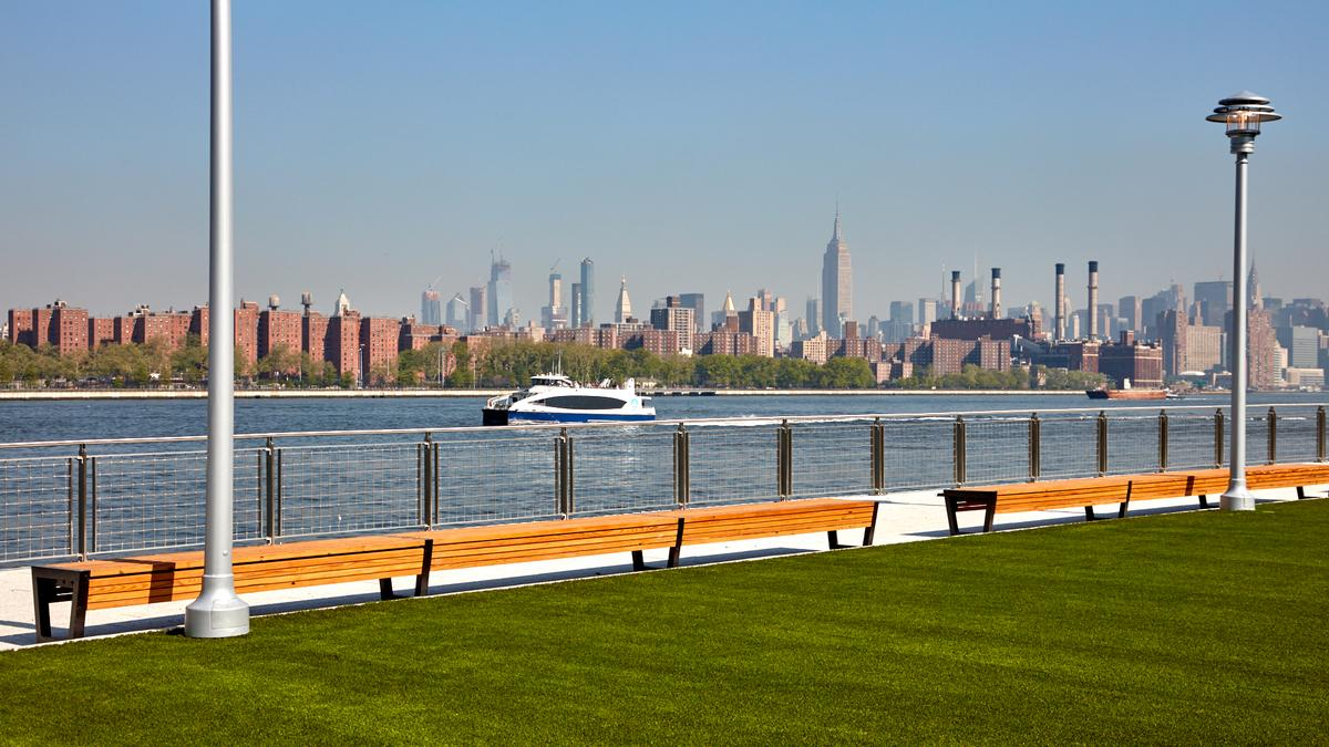 Two Trees Management has opened a disused sugar factory redevelopment in Williamsburg, Brooklyn, turning it into a waterfront park