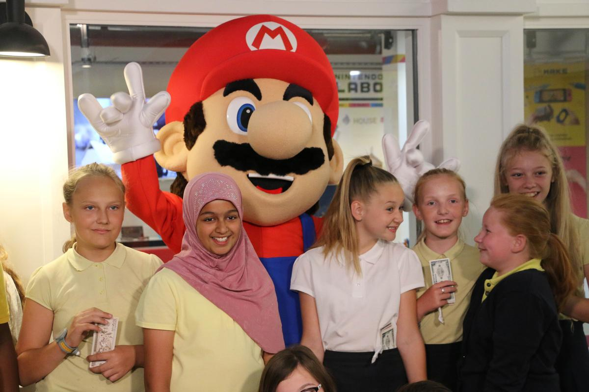 Mario was on-hand for the launch of the new space in KidZania London
