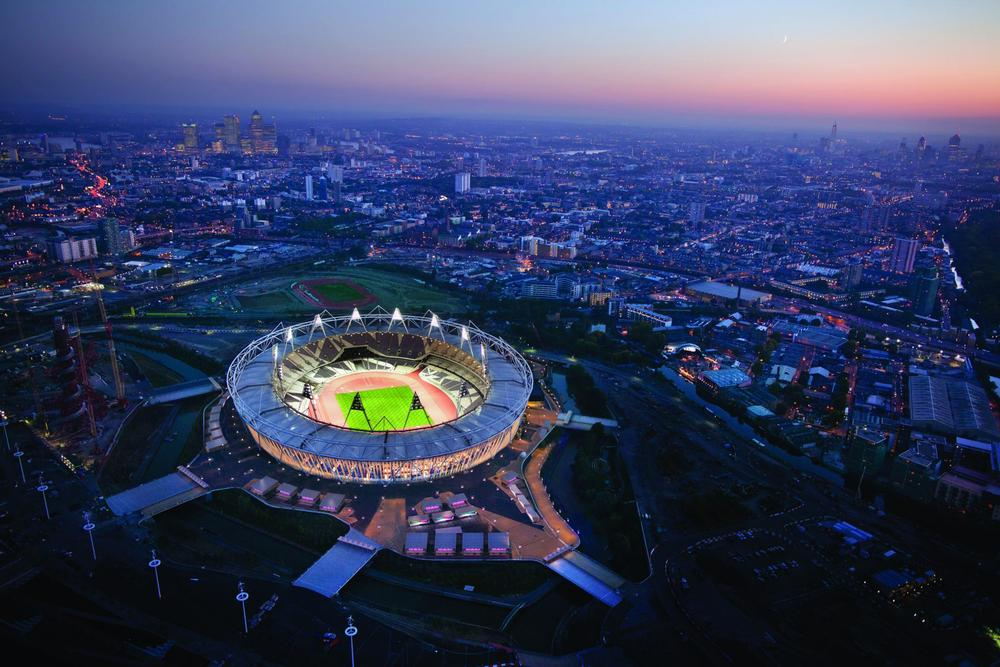 The London Olympic Stadium, designed by Populous. utilised recycled materials / © Populous-Romantic