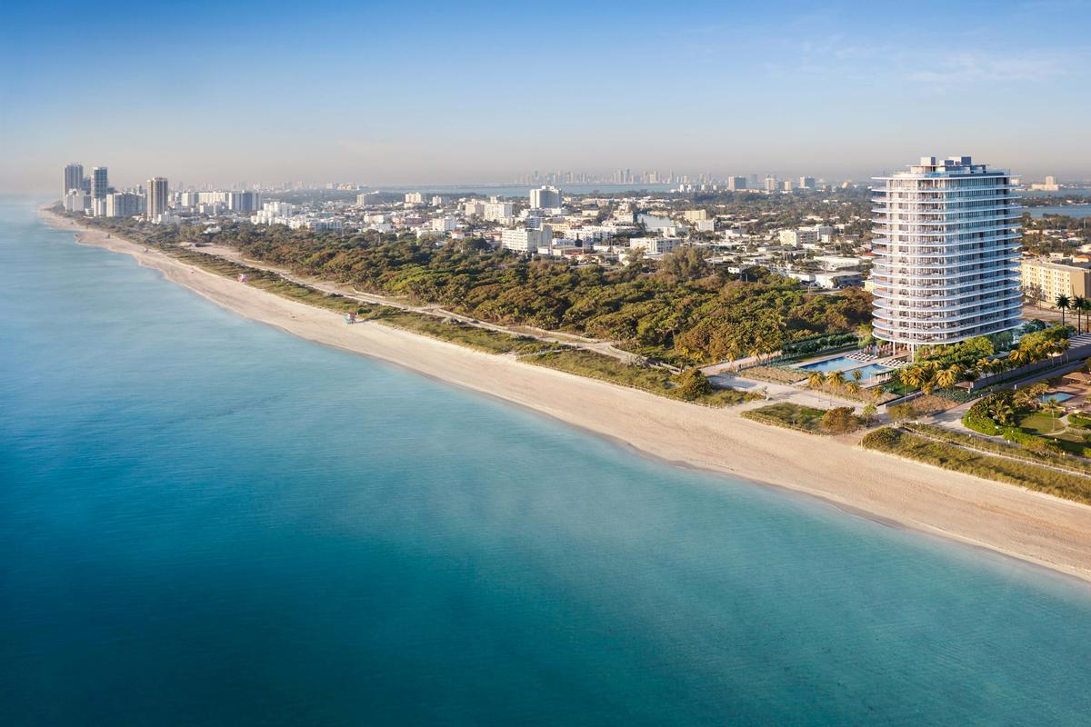 Additional dunes are also being installed along the shoreline of neighbouring Miami Beach as part of the project to protect the land from erosion due to rising sea levels