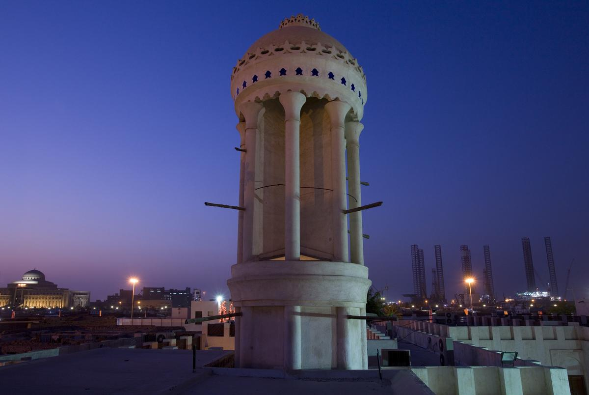 A spokesperson told CLADglobal that the hotel houses a circular wind tower, like those found in traditional Middle Eastern architecture, for natural ventilation