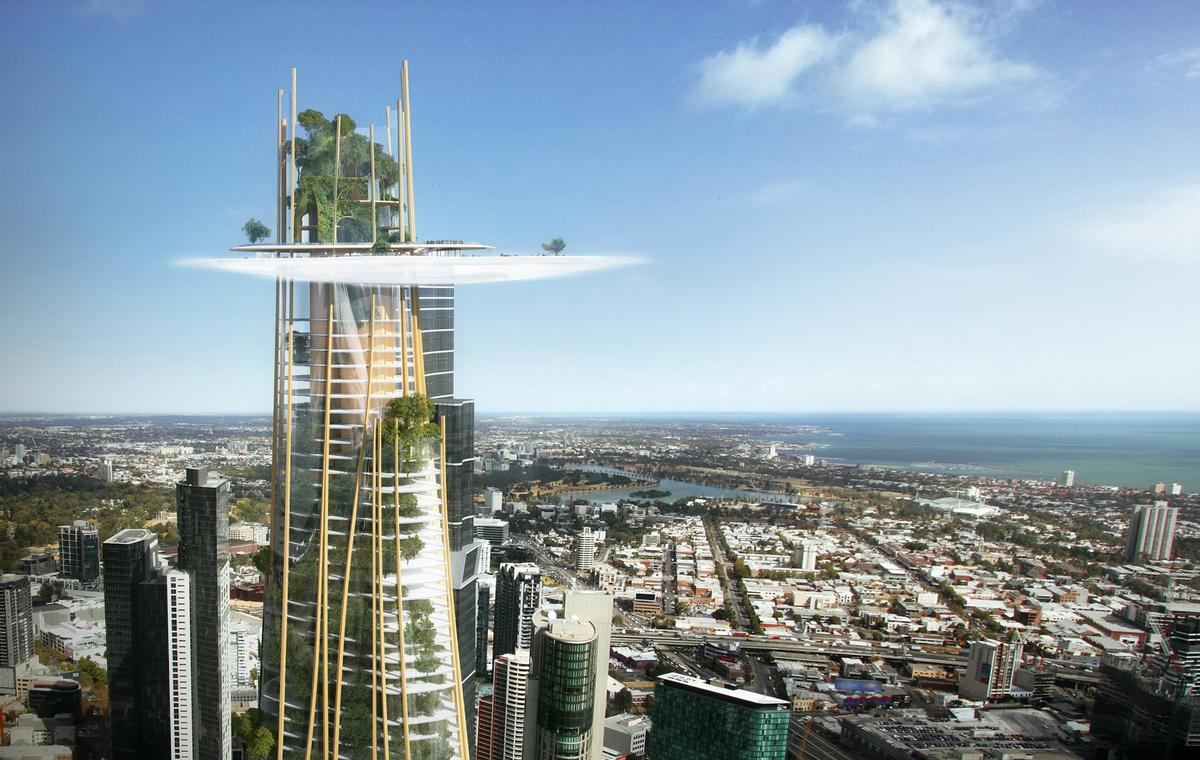 Towering at 360m, Urban Tree has 43 floors of residential apartments and 24 floors of hotel rooms