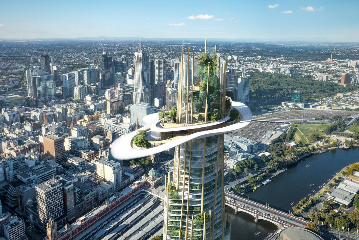 The hotel element of MAD Architects' proposal will feature the spectacular idea of 'the Cloud', which will sit 317m up and offer 360-degree cityscape view