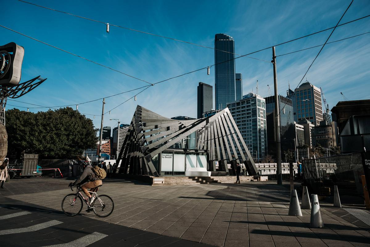 The competition was marked by a sculptured pop-up pavilion
