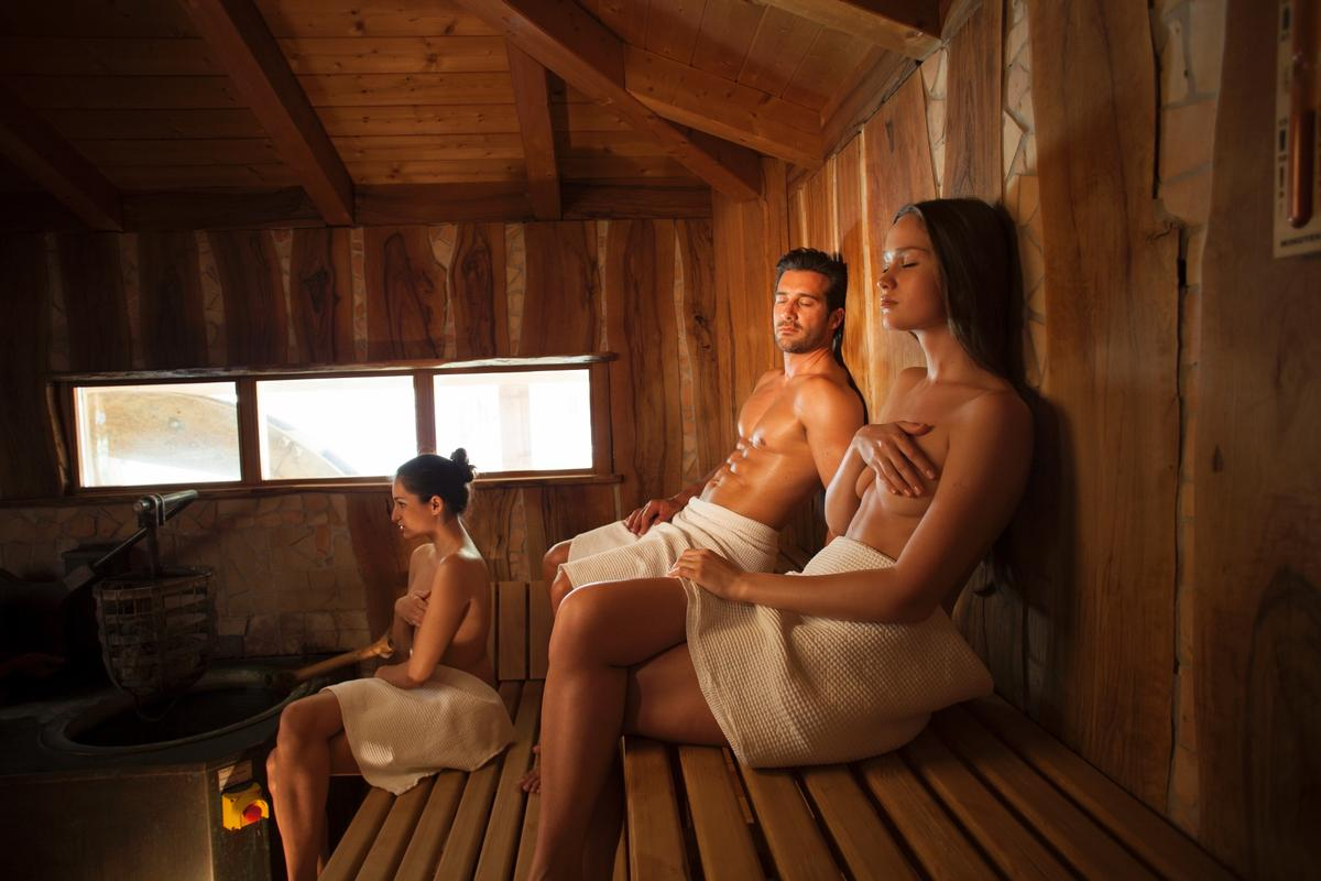 The sauna at Adler Thermae in Italy. Findings from a new comprehensive literature review suggest that the health benefits of sauna bathing are linked to the effects of sauna on circulatory, respiratory, cardiovascular, and immune functions / Adler Thermae