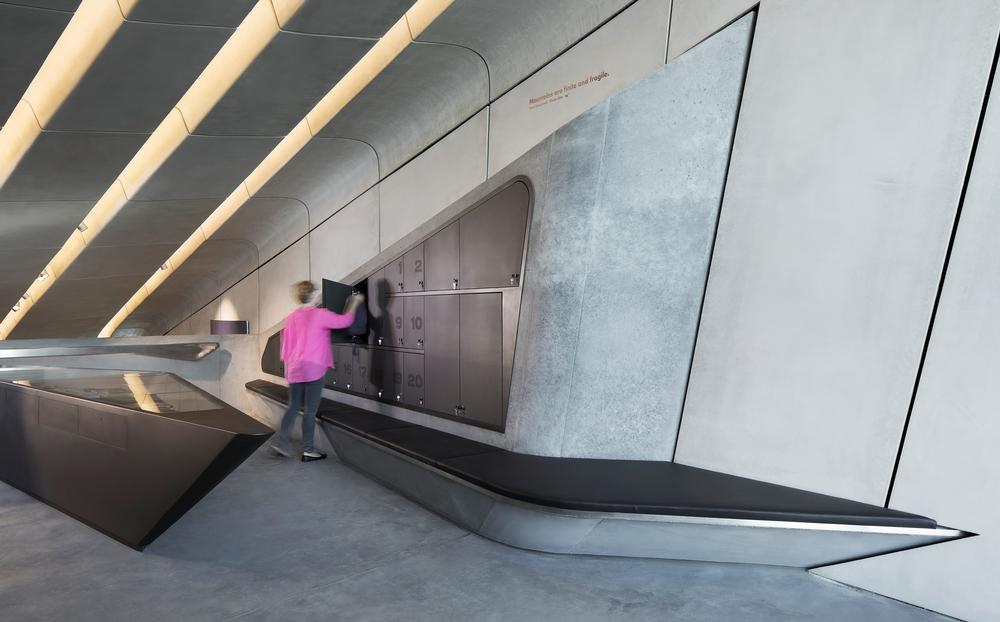 The museum's reinforced concrete walls are 40-50cm thick. The roof is up to 70cm thick / PHOTO: © Zaha Hadid