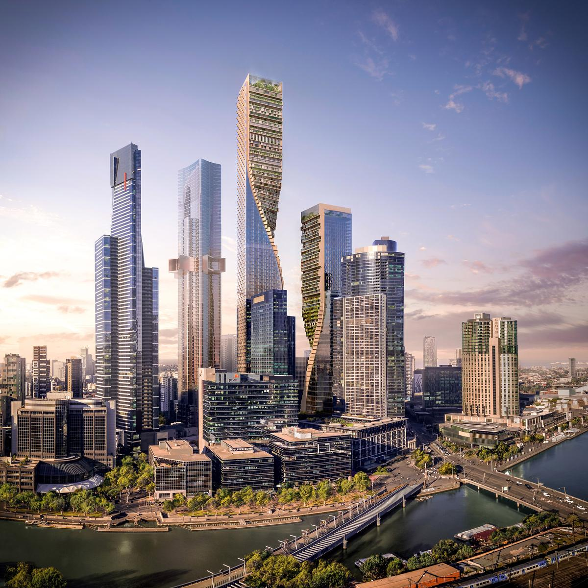 UNStudio's 'Green Spine' wins Melbourne Southbank competition