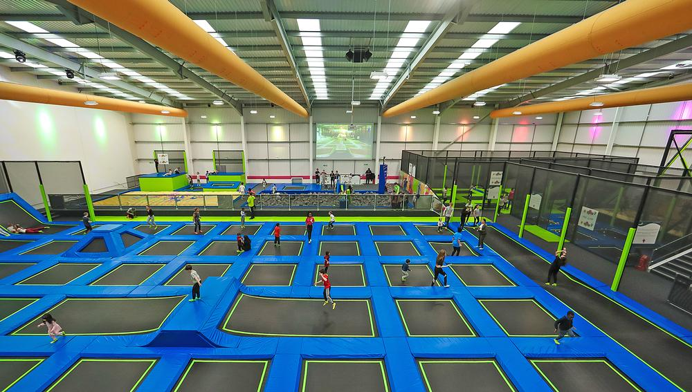 The open jump arena is the mainstay of parks, with smaller features adding extra interest