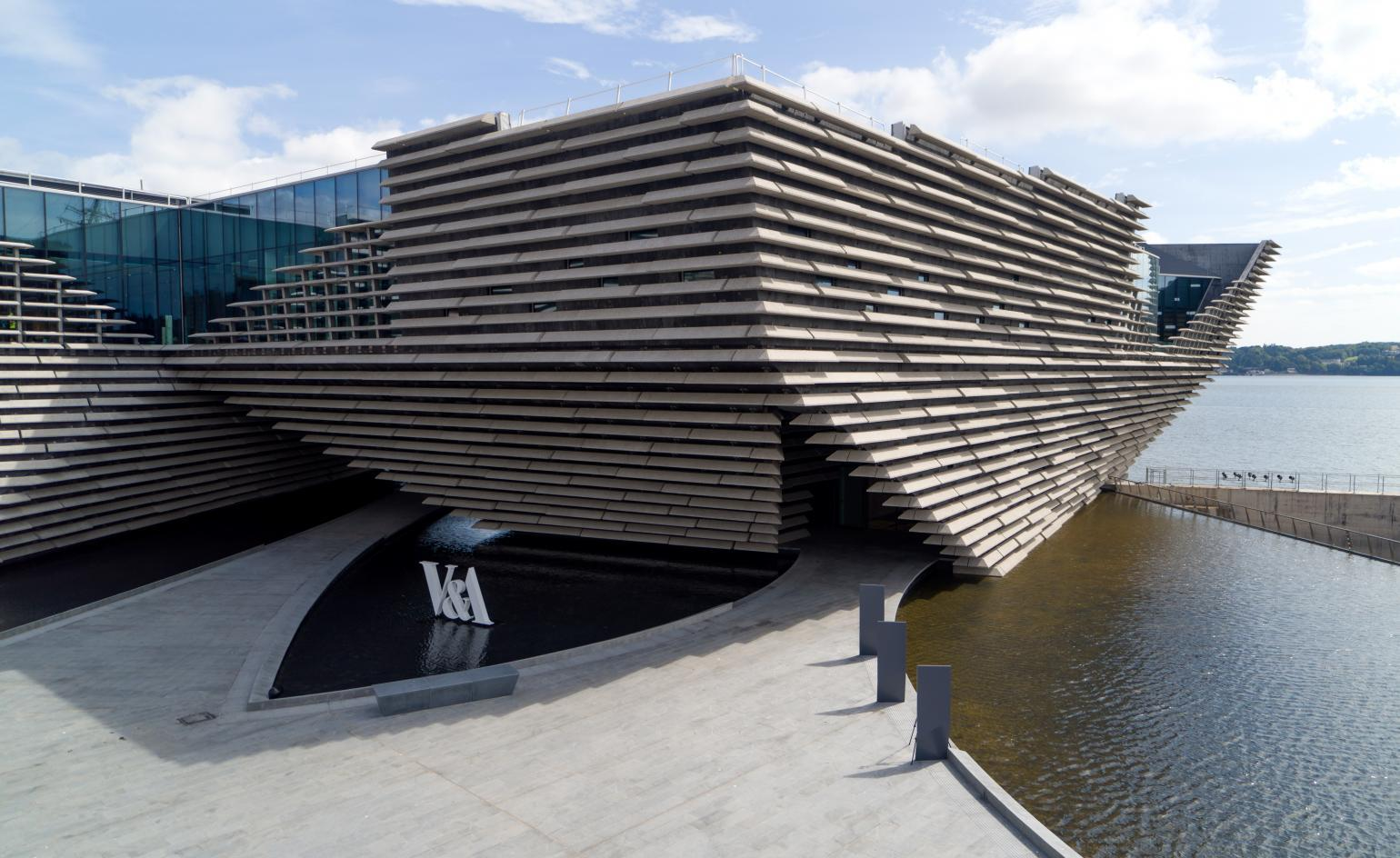 Kengo Kuma's V&A Dundee: Drone footage shows finished building ahead of opening